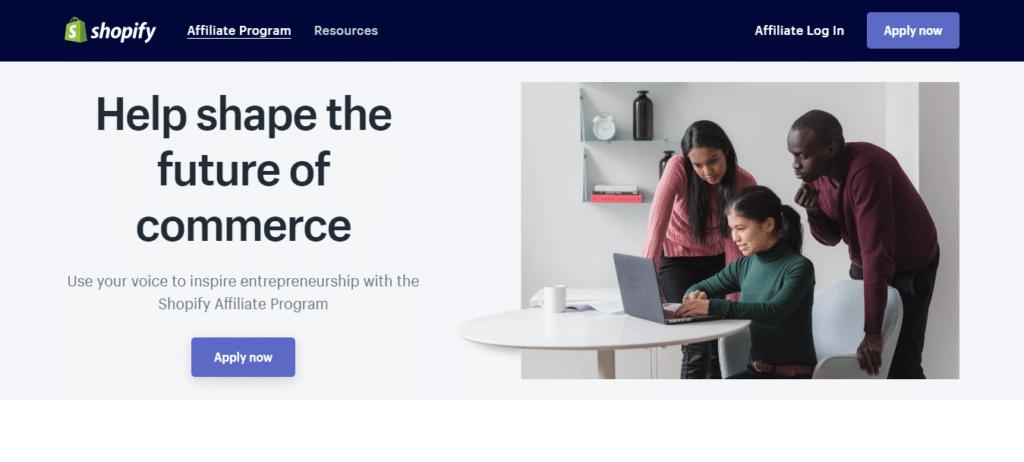 Shopify Affiliate Marketing Program