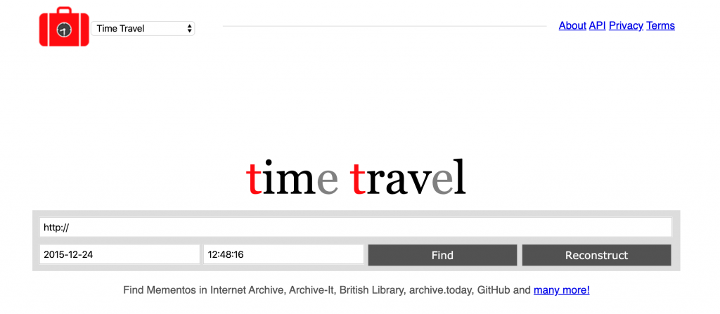 Time travel - Best wayback machine