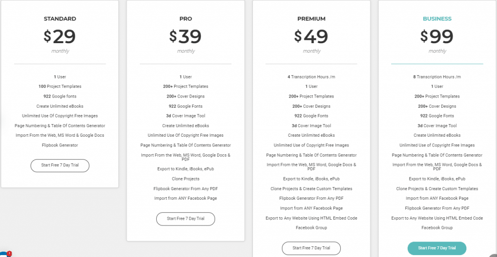 Designrr pricing options